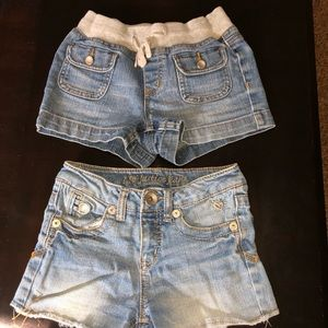 2 Pair Justice Denim shorts
